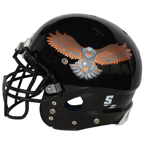 Carbon Fiber Chrome Eagle Decals