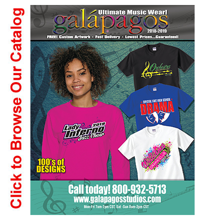 View the Entire Galapagos 2015-2016 Catalog: Your Top Custom Apparel Source for Music, Band, and Choir Programs