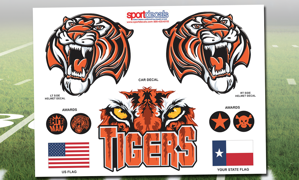 NEW! Football Custom HDHD Helmet Decal Kit