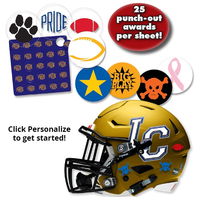 Helmet Award Stickers Sports Helmet Decal Set Swords