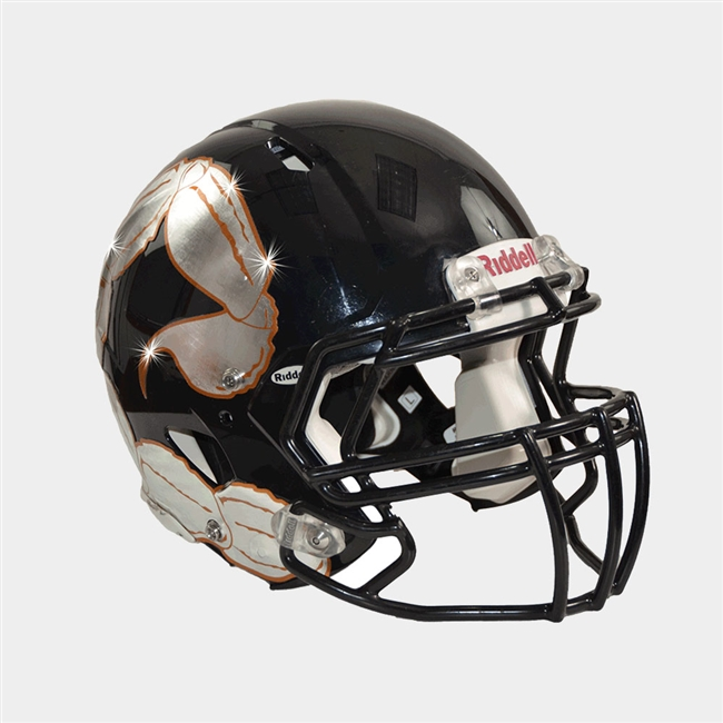 Football Helmet Decals - Chrome Finish